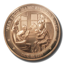 "Franklin Mint History of US ""Men from Mars"" Invasion Scare 1938 45mm Proof Bronz"