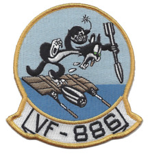 """4.5"""" NAVY VF-886 EMBROIDERED PATCH"""