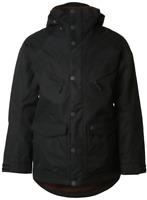 Burton FRONTIER - Snowboard Jacket - True Black Waxed Men Ski Snow XL *REF105
