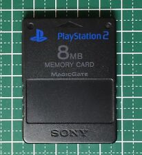 Sony PS2 Official Memory Card Black 8MB [Made in Japan] Playstation2 USED