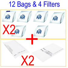 12 Vacuum Cleaner Bags Fit Miele 3D GN COMPLETE C2 C3 S2 S5 S8 S5210 S5211 S8310