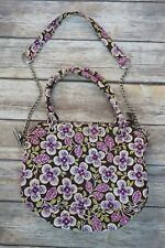 Vera Bradley Womens Quilted Chain Shoulder Strap Handbag Purse Tote