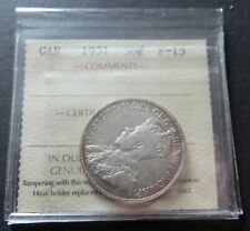 1931 SILVER ICCS CERTIFIED F-15 CANADA 50 CENTS COIN,  LOT#19