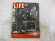 Life Magazine January 7th 1946 Churchills Paintings Cover Publisher Time   mg191