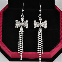 Very pretty crystal bow earrings multiple choices