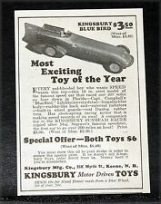 1928 OLD MAGAZINE PRINT AD, KINGSBURY BLUE BIRD, MOST EXCITING TOY OF THE YEAR!