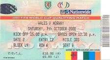 Il Galles V Norvegia 7 PTOM 2000 CALCIO BIGLIETTO a Cardiff Coppa del Mondo 2002 qualificatore