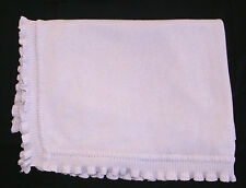 Expectations by Baby Martex Purple Lavender Cotton Knit Blanket Ruffle Edges