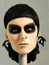 1:6 Custom Head Rooney Mara as Lisbeth Salander Dragon Tattoo with Raccoon Eyes