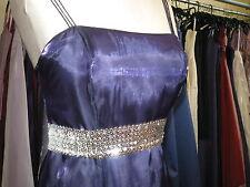 DEBUT/DEBENHAMS NAVY BLUE ORGANZA BRIDESMAID/PROM/BALL GOWN/BALLGOWN DRESS 8/10
