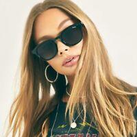 NWT Quay Australia Walk On Sunglasses Black AUTHENTIC Polarized Round Frame
