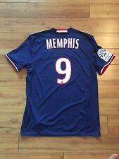 Olimpique Olympique Lyon Lyonnais Memphis Depay Away 16-17 Jersey Kit L Large