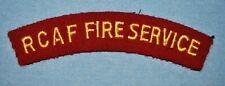 RCAF Fire Service Patch - WWII Occupation Era