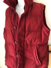 Abercrombie&Fitch Summit Rock Vest Red Womens Size M Down Filled Zip
