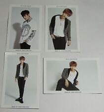 BTS V 1st Japan Tour 2015 Wake Up Japan Tour Official Photo Card Set of 4