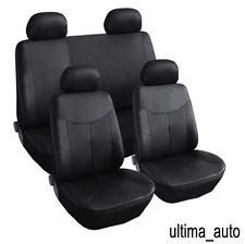 8 pcs set complet noir cuir look housses de siège pour peugeot 206 207 307 308 407