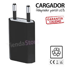 ADAPTADOR CARGADOR CORRIENTE USB RED PARED UNIVERSAL MOVIL NEGRO 5V 1A