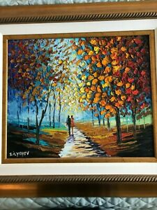 Slava Ilyayev - Deeper Meaning - beautiful ORIGINAL oil painting FRAMED