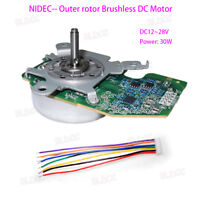 12-28V NIDEC Outer Rotor Brushless DC Motor Dual Ball Bearing Built-in Driver FY