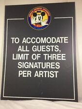Official Disneyana Convention 1997 Walt Disney World Sign Limit Three Signatures