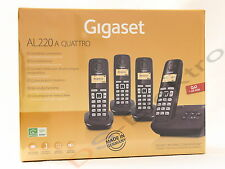 Gigaset AL220A Quattro - 4 Mobilteile und Anrufbeantworter / AB