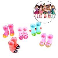 Regen Stiefel für 18Zoll Puppe Mädchen gelbe Farbe Puppe Schuhe Kleider I9E0
