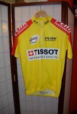 Tissot Uci Peak Perfomance retro vintage yellow cycling jersey M (#141)