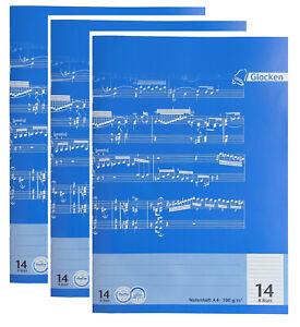 3 Stück Notenheft Notenblätter Notenbuch Notenpapier Notenhefte 1x VERSANDKOSTEN