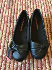 Girls Black leather Shoes By Tammy Girl Size 2 New With Tags