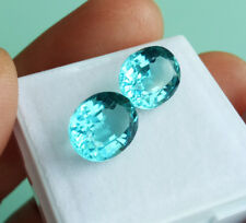 WORLD CLASS! 2pcs. Pair 10x8mm. OVAL NEON BLUE PARAIBA TOURMALINE Excellent Cut