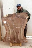 Rustic Kitchen Island Live Edge Coffee Table Raw Claro Walnut Wood Slab 6394x1