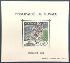 MONACO bloc spécial n° 18 FOOTBALL Barcelone 1992 dentelé, TB ** Cote 155 € !