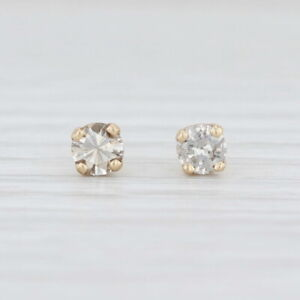 0.25ctw Diamond Stud Earrings 14k Yellow Gold Round Solitaire Studs