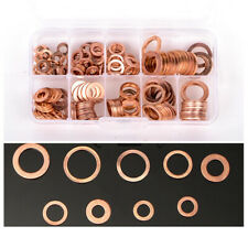 Car Engine Sump Plug Accessories Copper Washer Oil Seal O-Ring M5-M14 200Pcs/Set