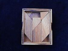 Letter K Tangram  wood brain teaser Puzzle