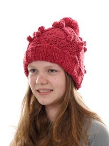 O`Neill Beanie Strickmütze Kopfbedeckung Santa Ana rot Bommel Bund