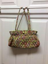 Vera. Radley Lime Green & Pink Paisley Quilted Microfiber Purse Handbag