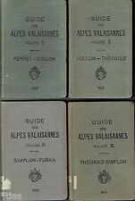 Court guide des Alpes valaisannes 5 vol. 1919 1937 suisse suisse Alpes