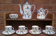 CORONAWARE by S. HANCOCK & SONS - COFFEE SET - JACOBEAN PATTERN.