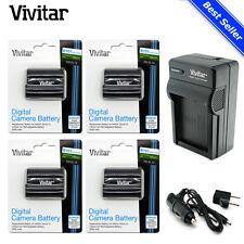 4x Vivitar EN-EL15 Battery + Charger for Nikon D7200 D7100 D810 D750 D610 D500