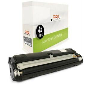 4x Cartridge Black For Konica Minolta Magicolor 2430-Desklaser