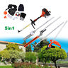 52cc Heavy Duty 5 in1 Petrol Strimmer Grass Trimmer Brush/Bush Cutter