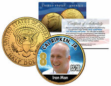 CAL RIPKEN JR. ** Baseball Legends ** JFK Half Dollar 24K Gold Plated U.S. Coin