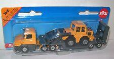 SIKU 1616 Miniature LOW LOADER 15cm Long + FRONT LOADER Diecast & Plastic Parts