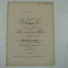 salon piano CHARLES BARLOW aria spiritual & variations , 1839