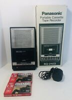 Panasonic Slimline  Cassette Player Recorder RQ 2103 W/ Ac Cord 2 Blank Tapes