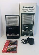 Panasonic Slimline  Cassette Player Recorder RQ 2103 W/ Ac Cord 2 Blank Tapes