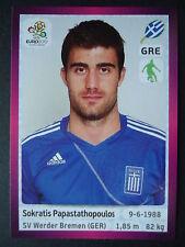 PANINI 87 Sokratis papasthopoulos Grecia euro 2012 Poland-Ucraina