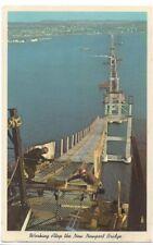 Working Atop Newport Bridge Newport Rhode Island Vintage Postcard Posted 1968