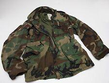 US Army  field jacket  Woodland Camo Medium Regular  NICE!!!
